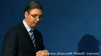 Serbien Premierminister Aleksandar Vucic (picture alliance/AP Photo/D. Vojinovic)