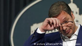 Aleksandar Vučić (picture alliance/AP Photo/D. Vojinovic)