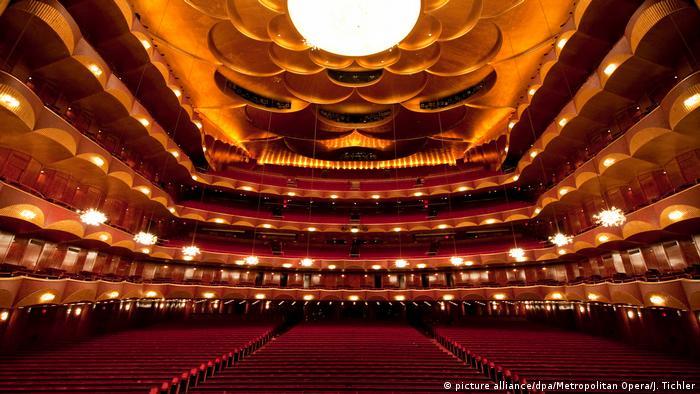 Empty Metropolitan Opera hall in New York