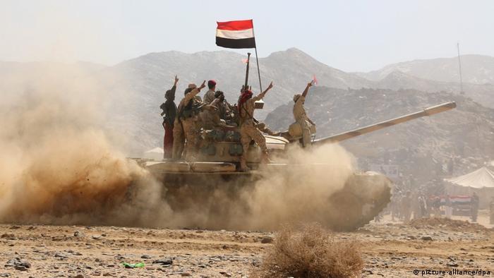 Jemen Von Saudis unterstützte Kämpfer