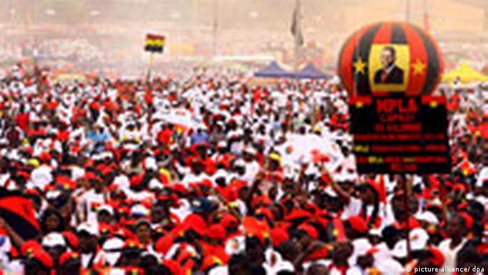 Erste Wahl in Angola seit 16 Jahren MPLA-Anhänger (picture-alliance/ dpa)