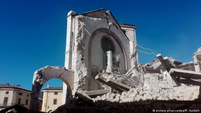 The aftermath of a devastating earthquake in central Italy
