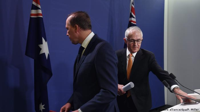 Peter Dutton and Malcolm Turnbull