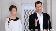 Syrien Präsident Bashar al-Assad mit Ehefrau Asma