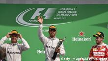 Mexiko Formel 1 Siegerehrung