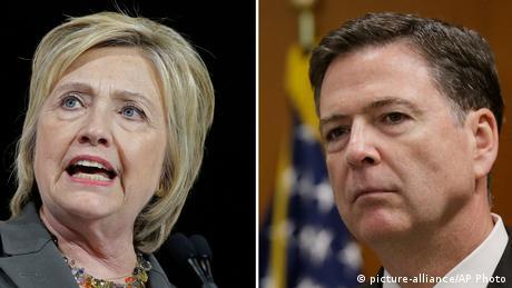 Bildkombo Hillary Clinton und James Comey (picture-alliance/AP Photo)