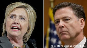 Bildkombo Hillary Clinton und James Comey (picture-alliance/AP Photo)