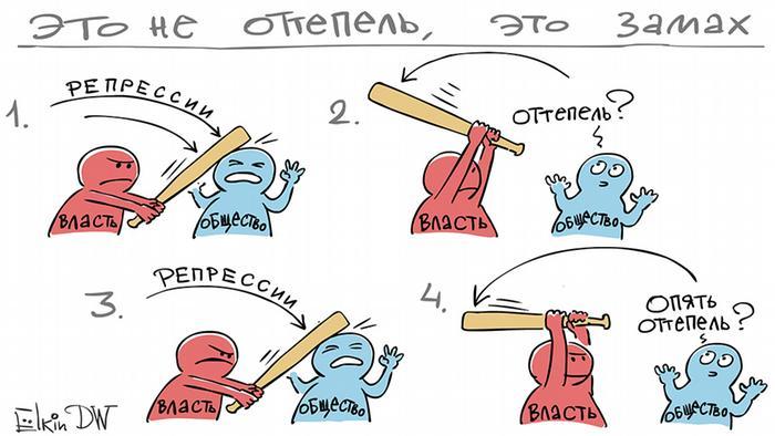 НАДО «ЗАКРУЧИВАТЬ ГАЙКИ», карикатура, трибуна народа,