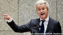 Niederlande Geert Wilders in Den Haag