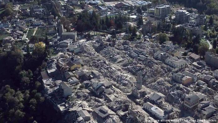 Ariel view of Amatrice village