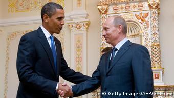 Russland Barack Obama und Wladimir Putin