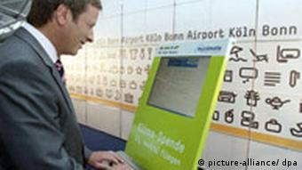 A terminal for flight passengers to offset their trip at Cologne-Bonn airport
