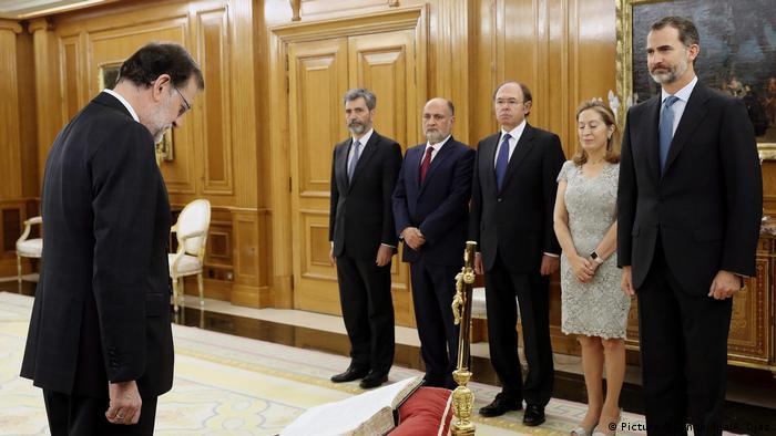 Mariano Rajoy and King Felipe VI