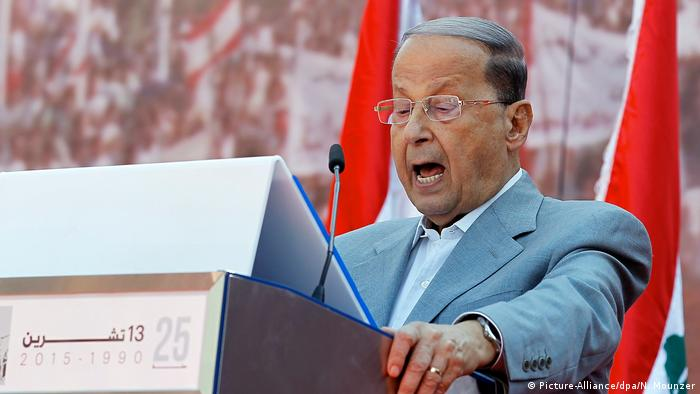 Lebanon neuer Präsident Michel Aoun