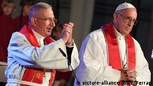 Schweden - Papst Franziskus und Bischof Munib A. Younan