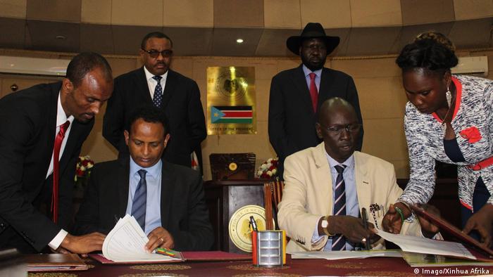 Afrika Südsudan Juba - Minister von Äthiopien und Südsudan