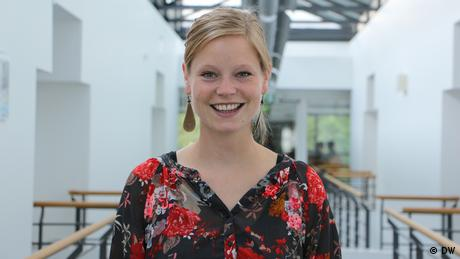 Lina Friedrich from Germany, student of DW Akademie's International Media Studies, photo: DW