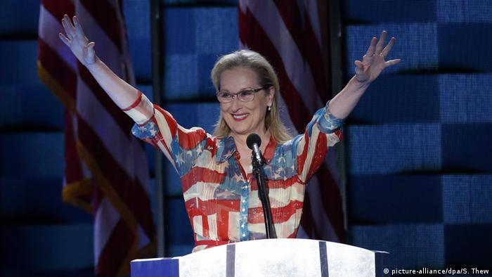 USA Meryl Streep Wahlkampagne für Hillary Clinton (picture-alliance/dpa/S. Thew)