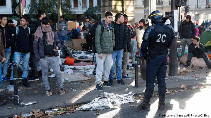 Беженцы в Париже