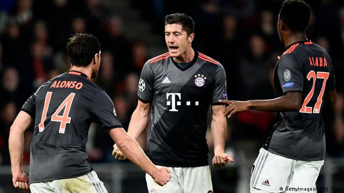 Championsleague PSV Eindhoven gegen Bayern München