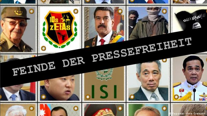 Reporter ohne Grenzen veröffentlicht neue Liste der Feinde der Pressefreiheit
