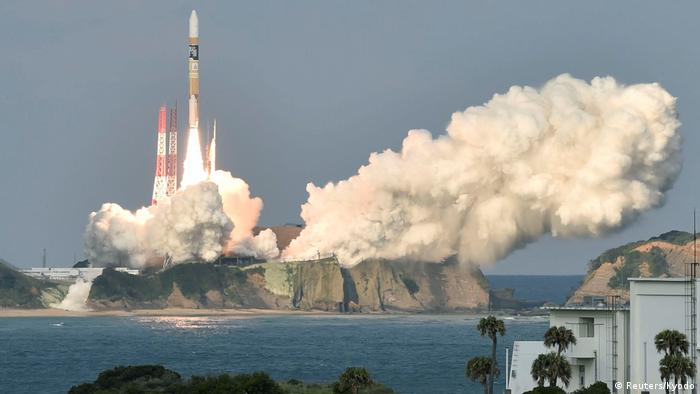 Japan Start H-2A Rakete mit Wettersatellit Himawari-9 (Reuters/Kyodo)