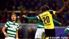 02/11/16. Football Soccer - Borussia Dortmund v Sporting Lisbon - Champions League - Group F - Signal Iduna Park, Dortmund, Germany - 02/11/16. Borussia Dortmund's Adrian Ramos scores a goal against Sporting Lisbon. REUTERS/Wolfgang Rattay