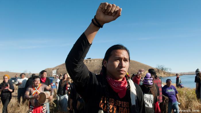 USA Protest gegen geplante Öl-Pipeline in North Dakota (Reuters/S. Keith)