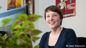 Monika Michell, at her TERRE DES FEMMES office in Berlin.