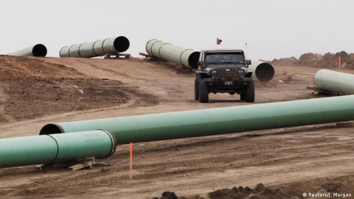 USA Protest gegen geplante Öl-Pipeline in North Dakota (Reuters/J. Morgan)