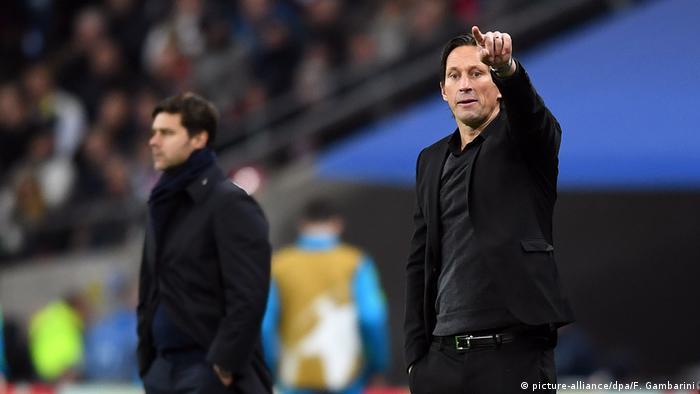 Fußball Trainer Roger Schmidt Tottenham Hotspur - Bayer Leverkusen (picture-alliance/dpa/F. Gambarini)