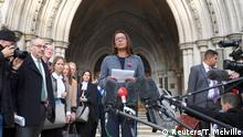 03.11.2016+++ Gina Miller speaks outside the High Court following its ruling on a challenge to the British government's right to start divorce proceedings from the European Union, in central London November 3, 2016. REUTERS/Toby Melville