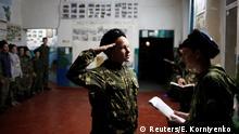 Russland Kinder in Militärausbildung in der Stavropol Region