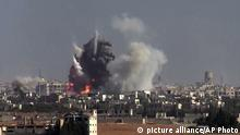 Syrien Bombenangriff in Aleppo
