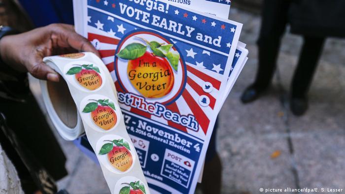 US-Wahlkampf frühe Abstimmung (picture alliance/dpa/E. S. Lesser)