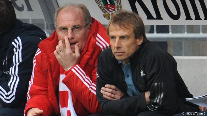 Deutschland ehemalige Bayern Münchens Trainer Jürgen Klinsmann und Manager Uli Hoeneß (imago/Team 2)