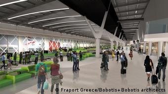 Griechenland Thessaloniki Umbaupläne von Fraport Greece für Flughafen (Fraport Greece/Bobotis+Bobotis architects)
