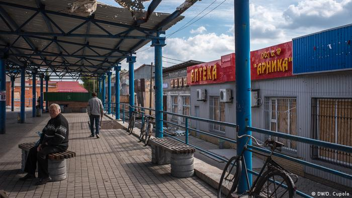 Наслідки обстрілів на околицях Донецька.