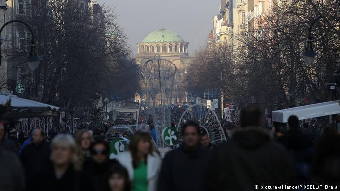 Bulgarien Menschen in Sofia