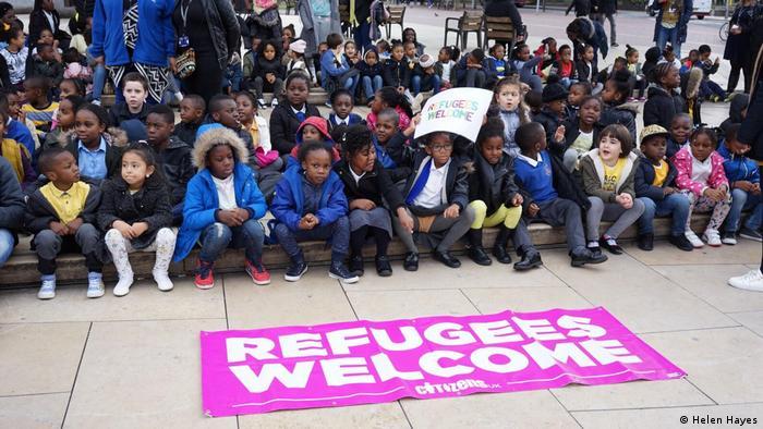 Großbritannien Flüchtlinge Refugees Welcome