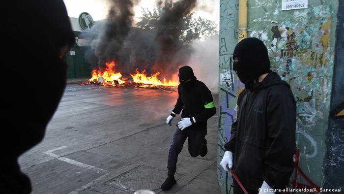 Chile Kürzung staatliche Rente Proteste in Santiago de Chile