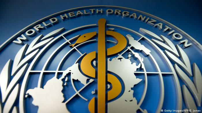 Logo Weltgesundheitsorganisation WHO (Getty Images/AFP/E. Jones)