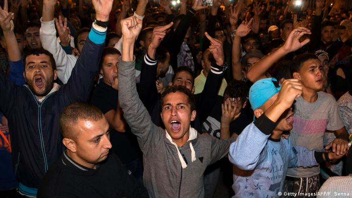 Marokko | Proteste in Rabat (Getty Images/AFP/F. Senna)