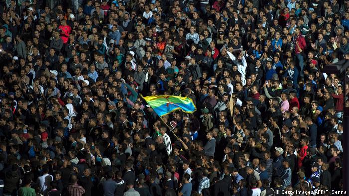 Marokko   Proteste in Rabat (Getty Images/AFP/F. Senna)
