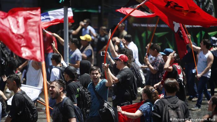 Chile Generalstreik in Santiago