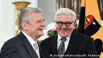 Два президенти: Йоахім Ґаук та Франк-Вальтер Штайнмаєр під час зустрічі в Берліні