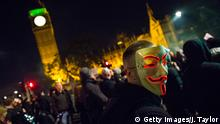 London Million Mask March On Bonfire Night