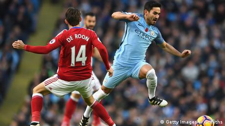 Fußball Ilkay Gündogan Manchester City v Middlesbrough - Premier League (Getty Images/L. Griffiths)