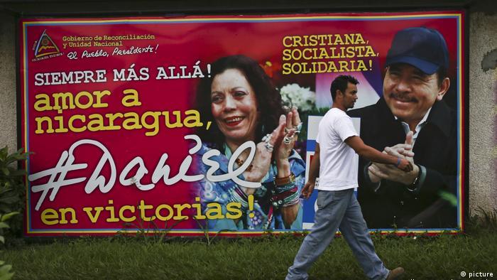 Nicaragua Wahlen Ortega Wahlplakat