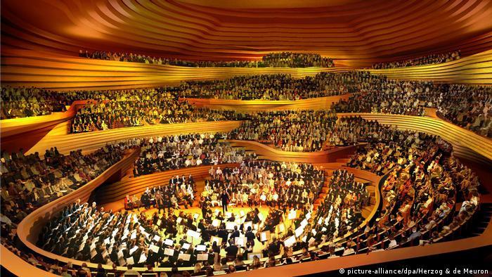 Hamburg Elbphilharmonie Computergrafik zeigt den Innenraum (picture-alliance/dpa/Herzog & de Meuron)